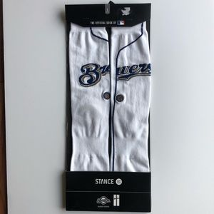 Brewers Home Stance Home Jersey Crew Socks NWT
